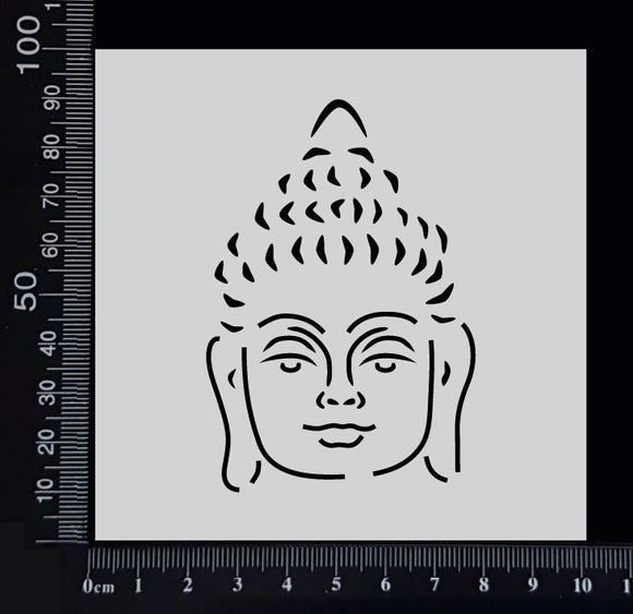 Buddha Face - Stencil - 100mm x 100mm