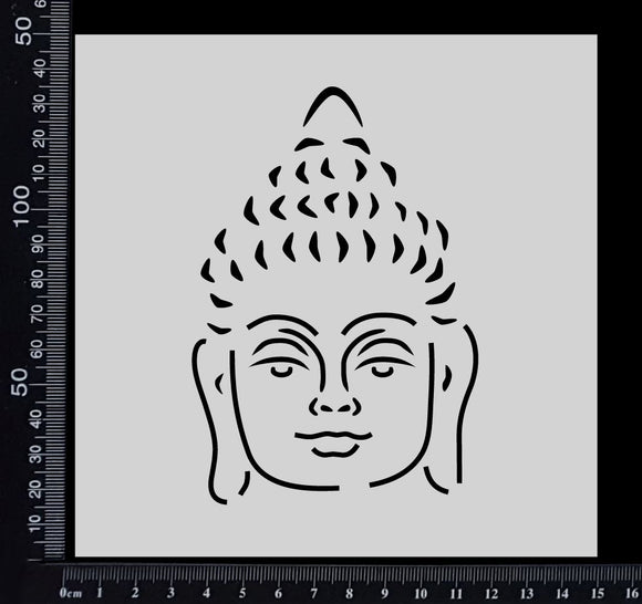 Buddha Face - Stencil - 150mm x 150mm