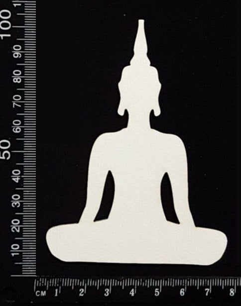 Buddha - F - White Chipboard