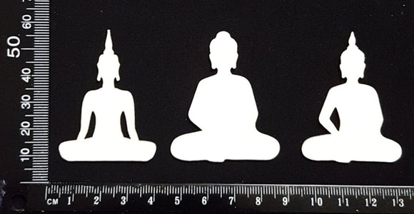 Buddha Set - B - Small - White Chipboard