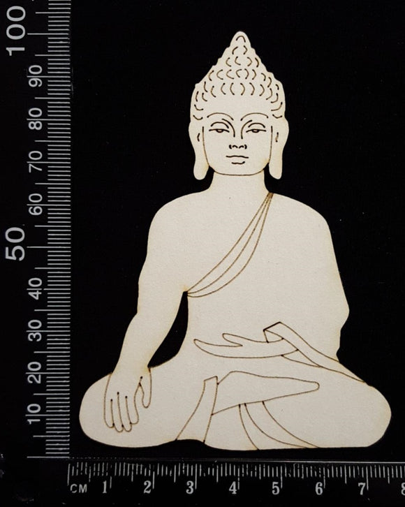 Buddha - Detailed - A - White Chipboard