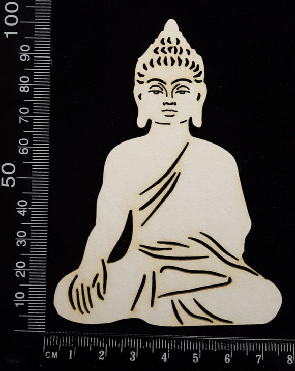 Buddha - Detailed - B - White Chipboard