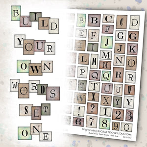 Build Your Own Words - Set One - DI-10092 - Digital Download