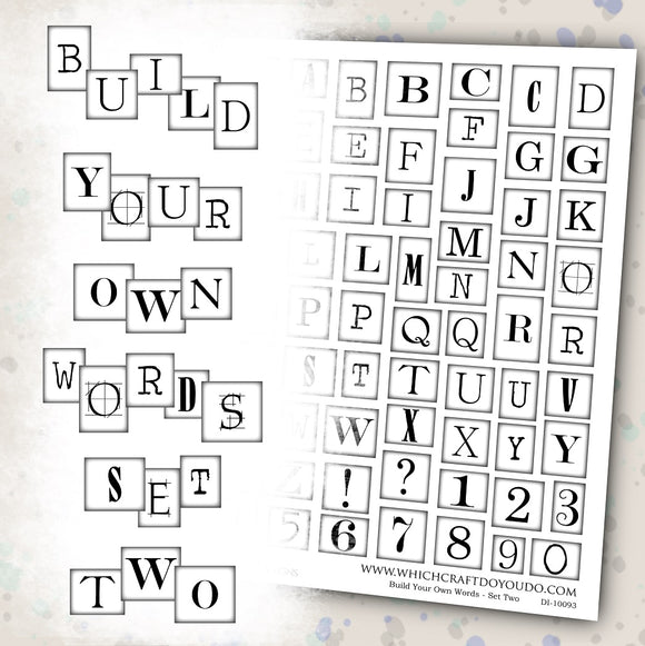 Build Your Own Words - Set Two - DI-10093 - Digital Download