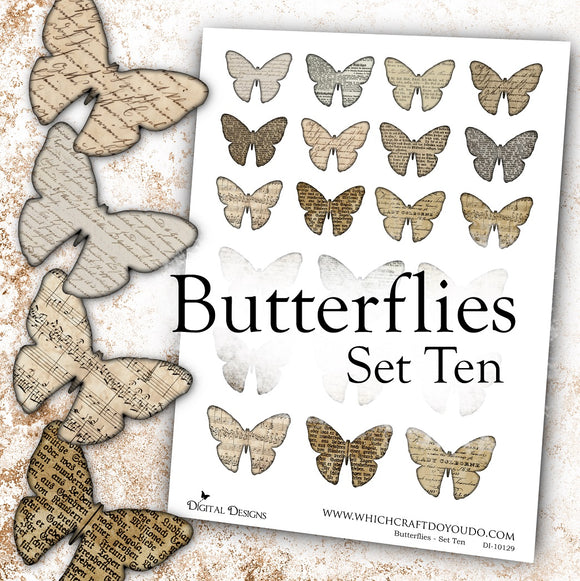Butterflies - Set Ten - DI-10129 - Digital Download