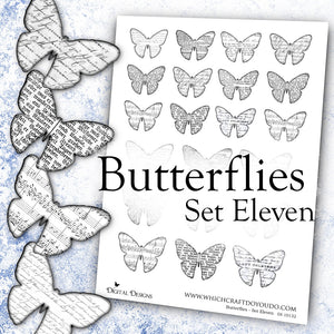 Butterflies - Set Eleven - DI-10132 - Digital Download