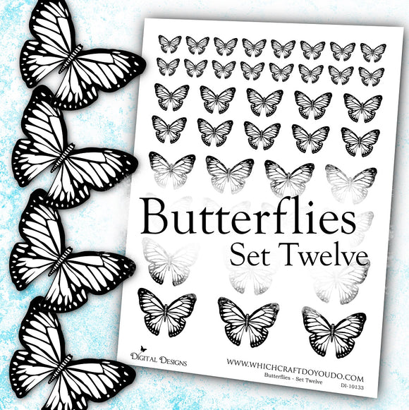 Butterflies - Set Twelve - DI-10133 - Digital Download