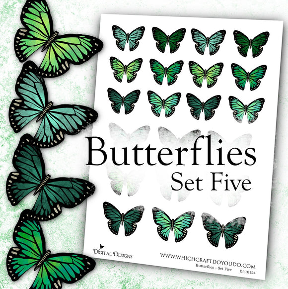 Butterflies - Set Five - DI-10124 - Digital Download