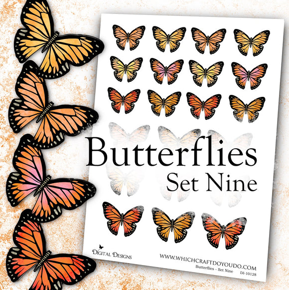 Butterflies - Set Nine - DI-10128 - Digital Download
