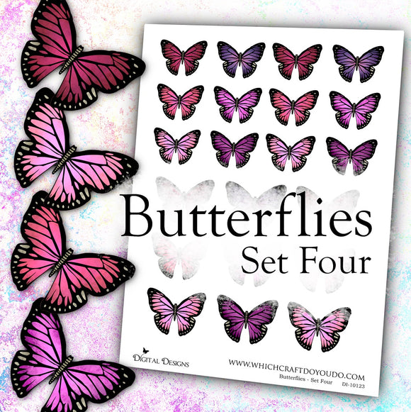 Butterflies - Set Four - DI-10123 - Digital Download