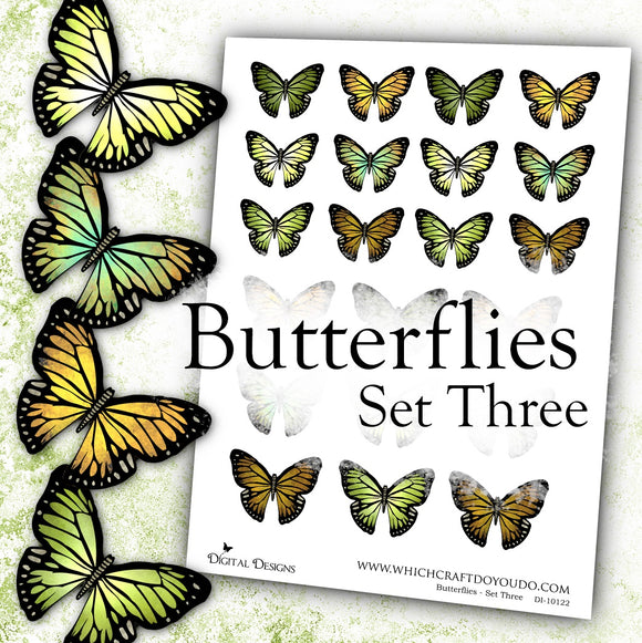 Butterflies - Set Three - DI-10122 - Digital Download