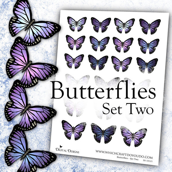 Butterflies - Set Two - DI-10121 - Digital Download