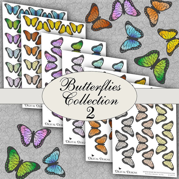 Butterflies Collection - Set Two - DI-10001 - Digital Download