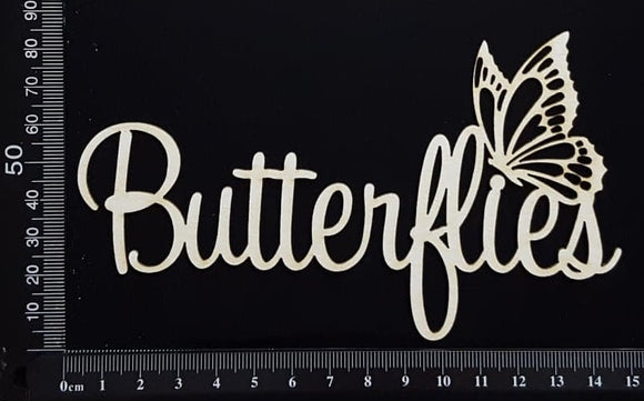 Butterflies - White Chipboard