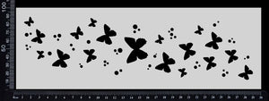 Butterfly Border - Stencil - 100mm x 300mm