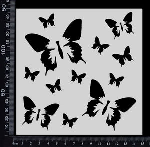 Butterfly Dream - Stencil - 150mm x 150mm