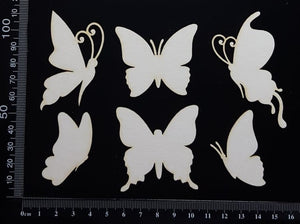 Butterfly Set - BB - White Chipboard