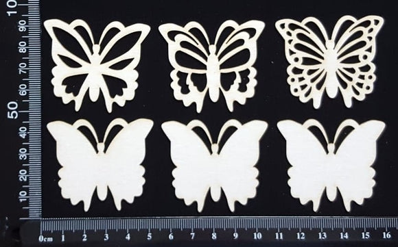 Butterfly Set - CA - White Chipboard