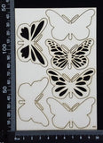 Butterfly Set - CB - White Chipboard