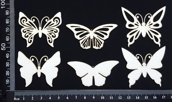 Butterfly Set - CC - White Chipboard