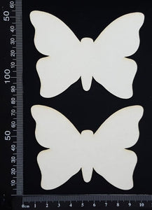 Butterfly Set - EB - White Chipboard