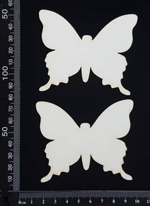 Butterfly Set - GB - White Chipboard
