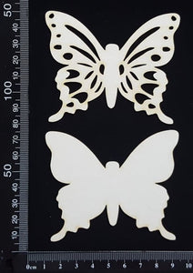 Butterfly Set - GC - White Chipboard