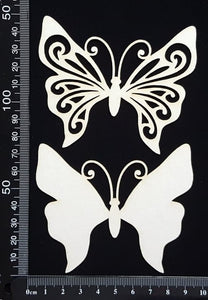 Butterfly Set - HC - White Chipboard