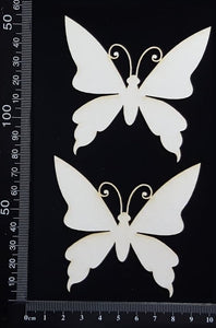 Butterfly Set - IB - White Chipboard