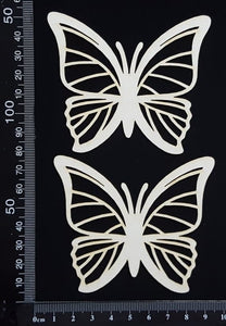 Butterfly Set - JA - White Chipboard