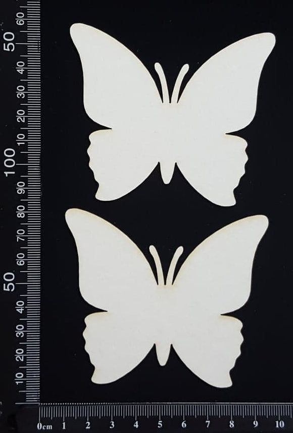 Butterfly Set - JB - White Chipboard