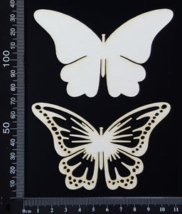 Butterfly Set - LC - White Chipboard