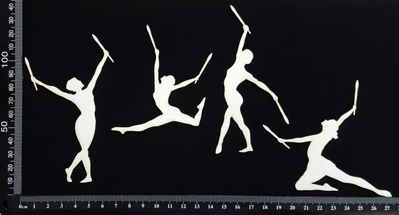 Calisthenics Dance Set - White Chipboard