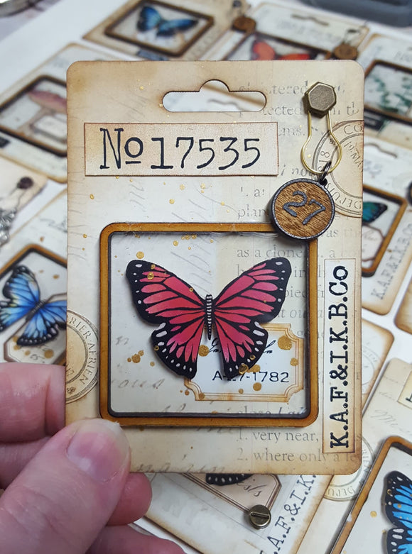 Butterfly Capsule Card Kits - Square Top