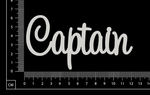 Captain - White Chipboard