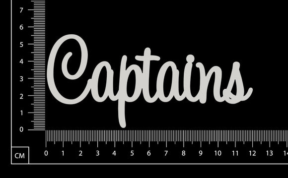 Captains - White Chipboard