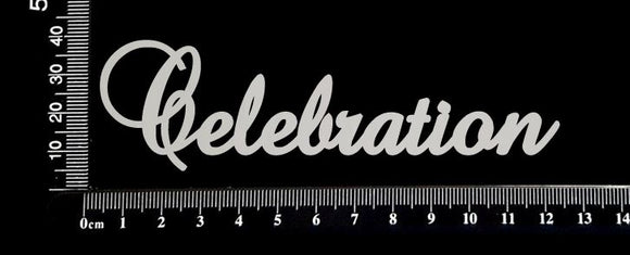 Elegant Word - Celebration - White Chipboard