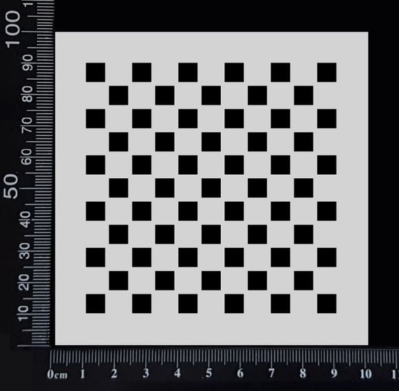 Checkerboard - Stencil - 100mm x 100mm