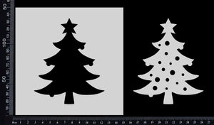 Christmas Tree - Stencil - 150mm x 150mm