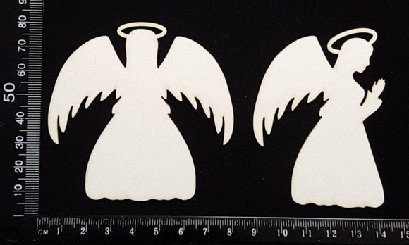 Christmas Angels - White Chipboard