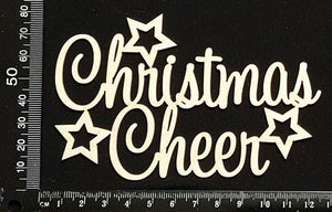 Christmas Cheer - White Chipboard