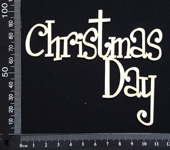 Christmas Day - B - White Chipboard