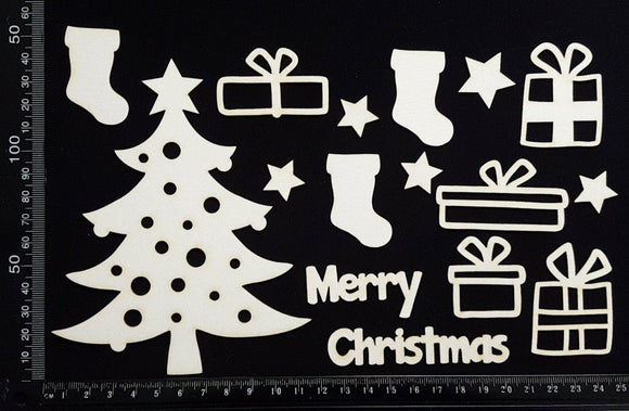Christmas Elements - Set B - White Chipboard
