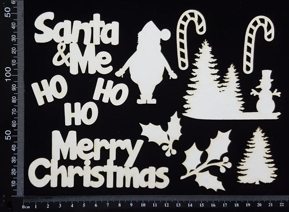 Christmas Elements - Set C - White Chipboard