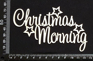 Christmas Morning - White Chipboard