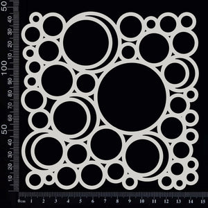 Circles Mesh - A - White Chipboard
