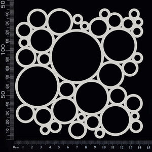 Circles Mesh - C - White Chipboard