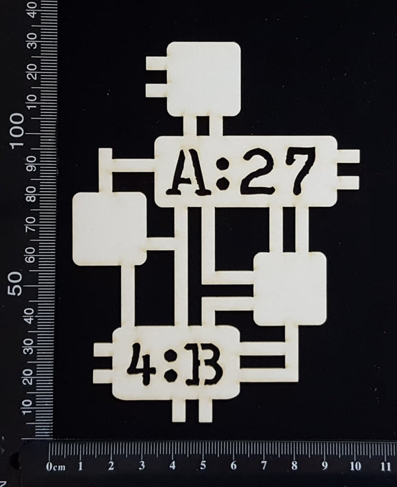Circuit Fragment - BB - Large - White Chipboard