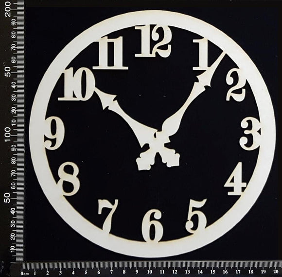 Clock Face - AC - Large - White Chipboard