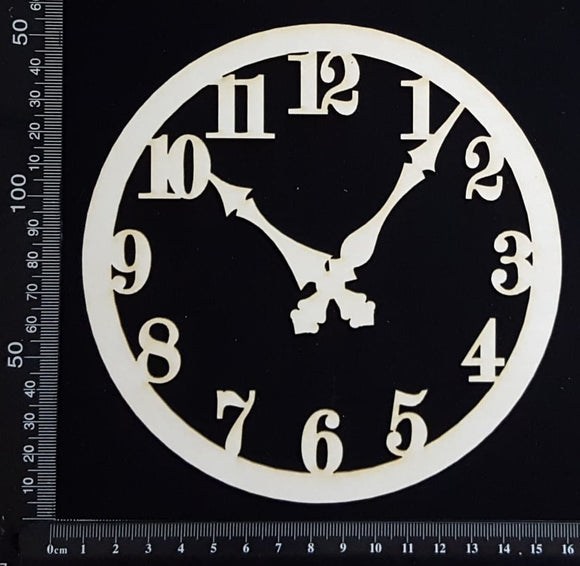 Clock Face - AB - Medium - White Chipboard